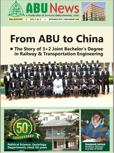 ABUNews September 2018. VOL. 5 No. 2